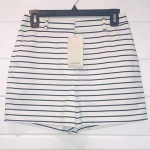 {Zara basic} striped shorts